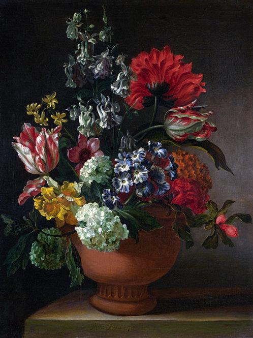 Мари Бланкур - Ваза с цветами , 30х40 см.