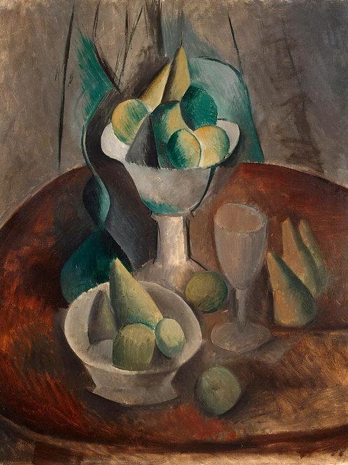 Пикассо, Пабло - Ваза с фруктами,30х40 см.