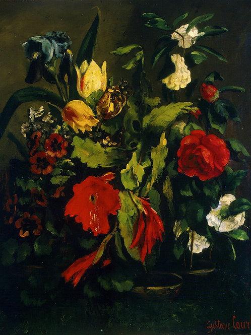 Курбе, Густав - Цветы, 30х40 см.