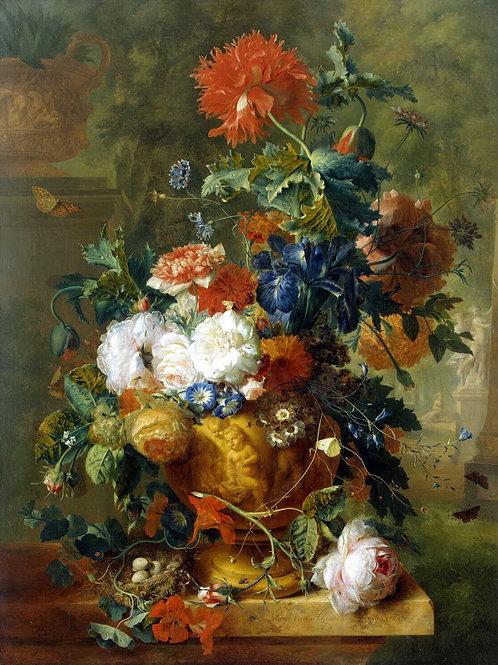 Хейсум, Ян ван - Цветы,  30х40 см.