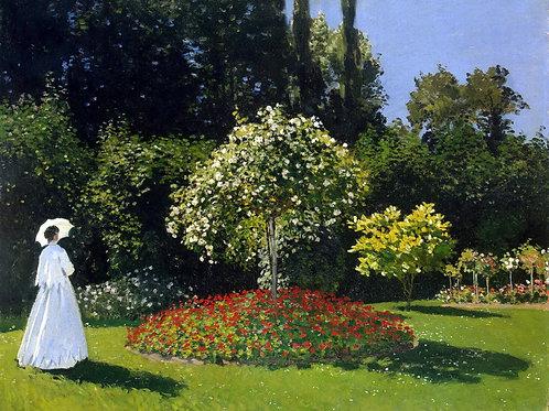 Моне, Клод - Дама в саду Сент-Адресс,  30х40 см.