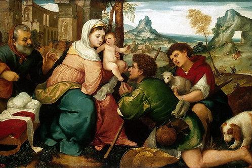 Бонифацио,  Поклонение пастухов, 30х40 см.