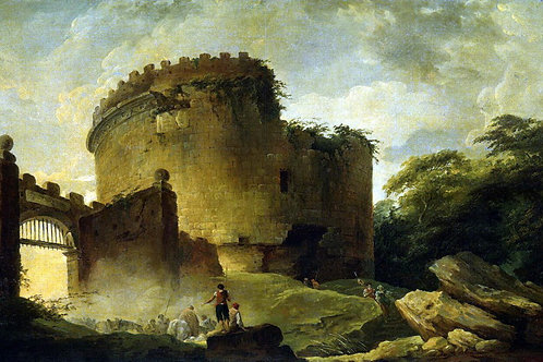 Робер, Гюбер - Гробница Цецилии Метеллы, 30х40 см.