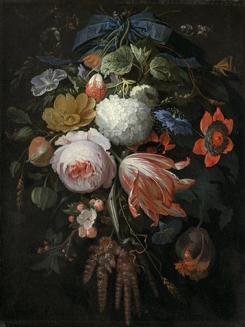 Миньон, Абрахам - Подвешеный букет цвето, 30Х40см.