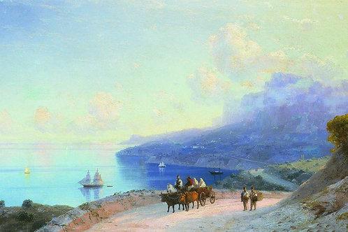 Морской берег (Крымское побережье у Ай-Петри)