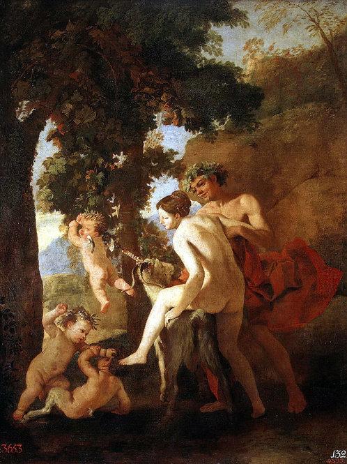 Пуссен, Никола - Венера, Фавн и путти, 30х40 см.