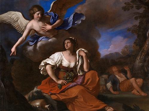 Гверчино - Явление ангела Агари и Измаи, 30х40 см.