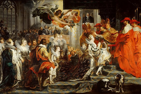 Рубенс,  Коронация Марии Медичи 30х40 см.