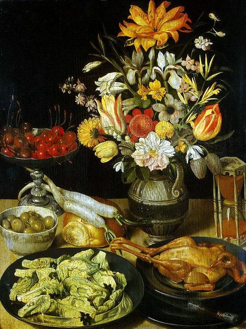 Флегель, Георг - Натюрморт с цветами,  30х40 см.