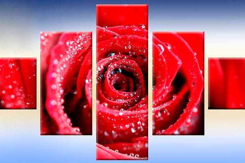 монящая роза, 100% натур. холст, подрамник.