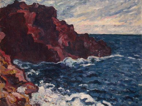 Вальта,  Лиловые скалы, 30х40 см.