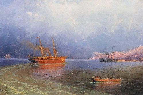 У берегов Ялты. 1894, 30х40 см.