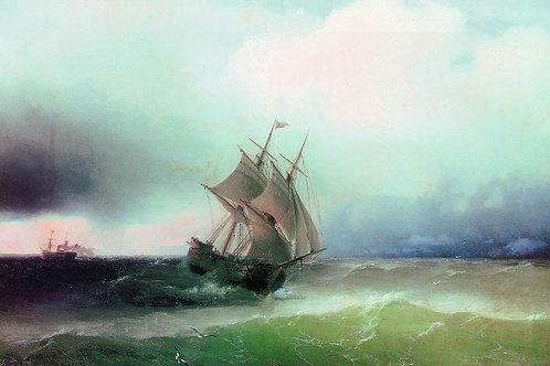 Приближение бури. 1877, 30х40 см.