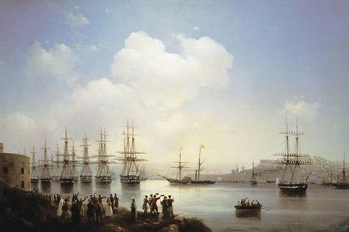 Русская эскадра на Севастопольском рейде. 1846.