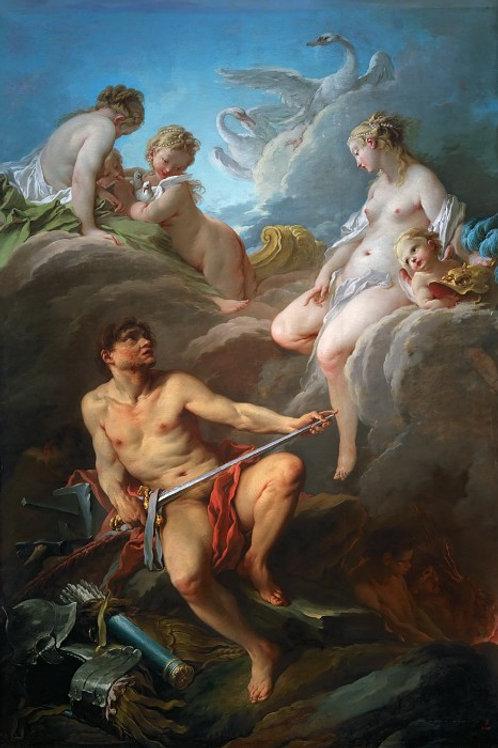 Буше, Франсуа -- Венера и Вулкан 30х40 см.