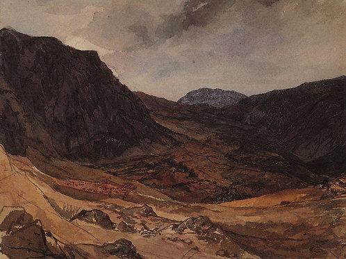 Долина Дельфийская. 1835, 30х40 см.