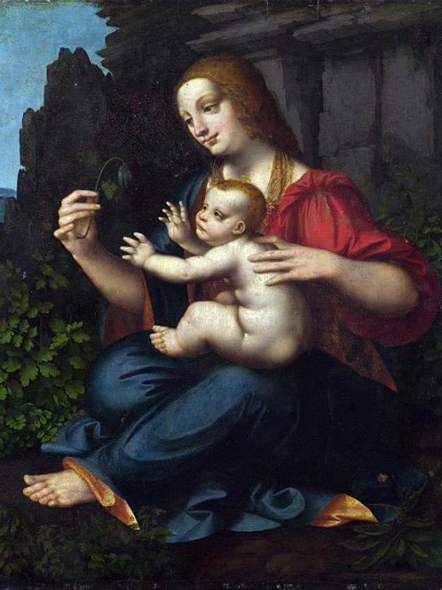 Марко Оджоно - Мадонна с Младенцем , 30х40 см.