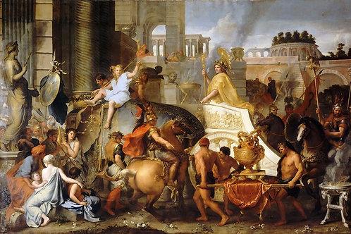 Лебрен, Шарль (Париж 1619-1690) -- Триу- 30х40 см.