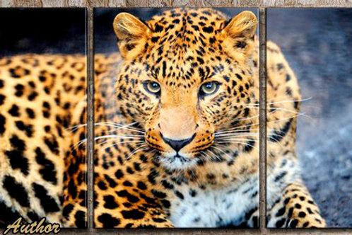 Леопард, 100% натур. холст, подрамник.