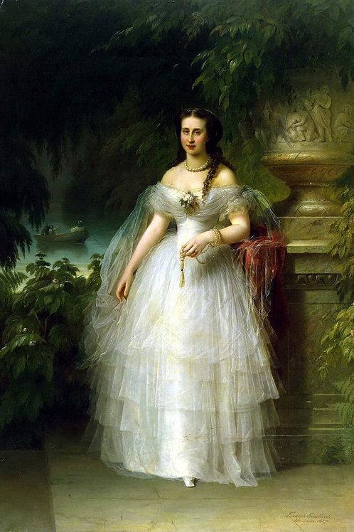 Каульбах, Портрет великой княгини Алекс, 30х40 см.