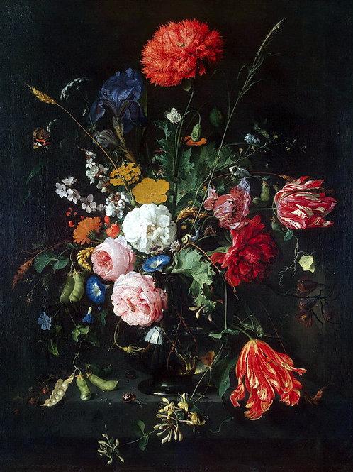 Хем, Ян Давидс де - Цветы в вазе,  30х40 см.