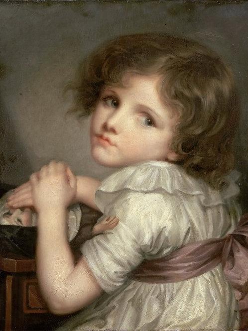 Грёз, Анна-Женевьева Девочка с куклой 30х40 см.