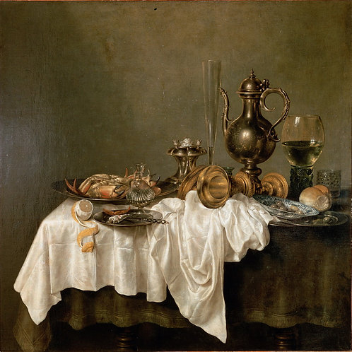 Хеда, Виллем Клас - Завтрак с лобстеро,  30х40 см.