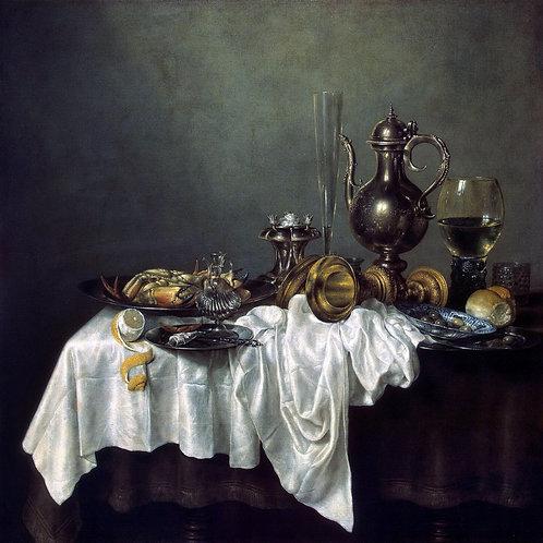 Хеда, Вилем Клас - Завтрак с крабом,  30х40 см.