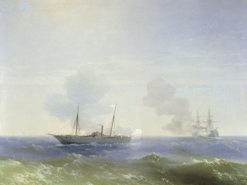 Бой парохода «Веста» с турецким броненосцем Фехти