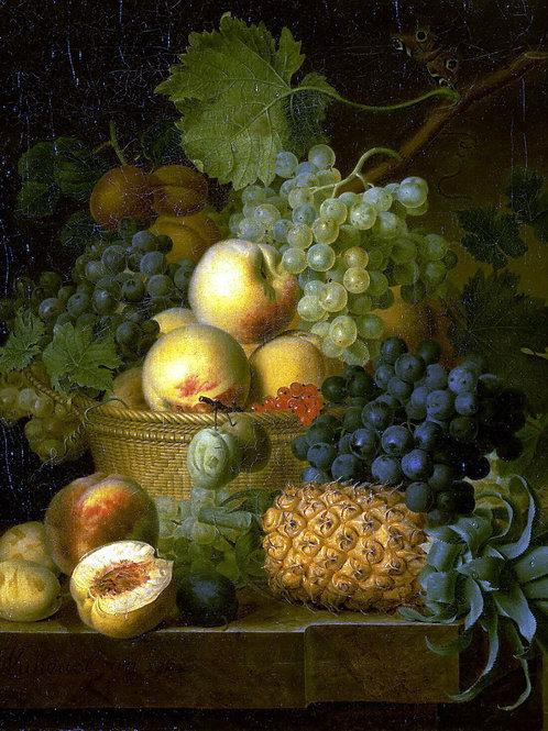 Даль,  Корзина с фруктами, 30х40 см.