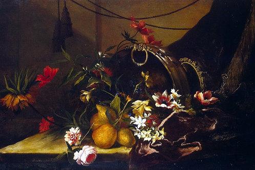 Моннуайе, Жан-Батист - Цветы и фрукты,  30х40 см.