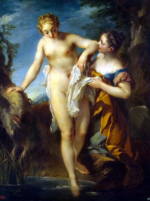 Лемуан, Франсуа - Купальщица,  30х40 см.