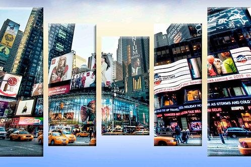 Нью-Йорк,  100% натур. холст, подрамник.