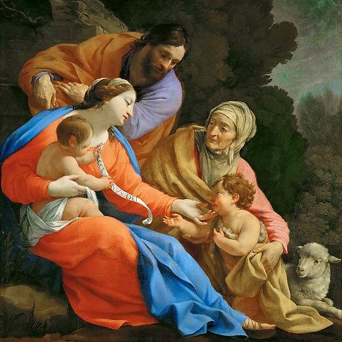 Вуэ, - Святое Семейство со св Елизаветой 30х40 см.