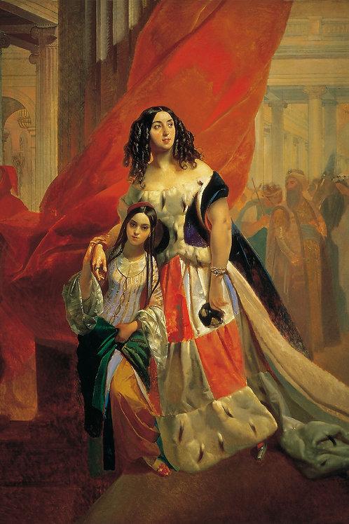 Портрет графини Юлии Павловны Самойлово  30х40 см.