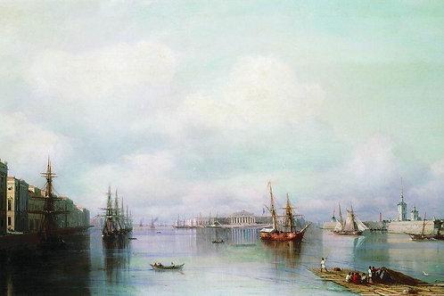 Вид Петербурга. 1888, 30х40 см.