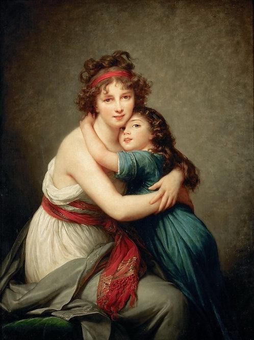 Виже-Лебрен,  Автопортрет с дочерью Жюли,30х40 см.