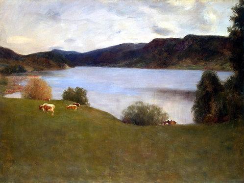 Вереншелль, Пейзаж с озером, 30х40 см.