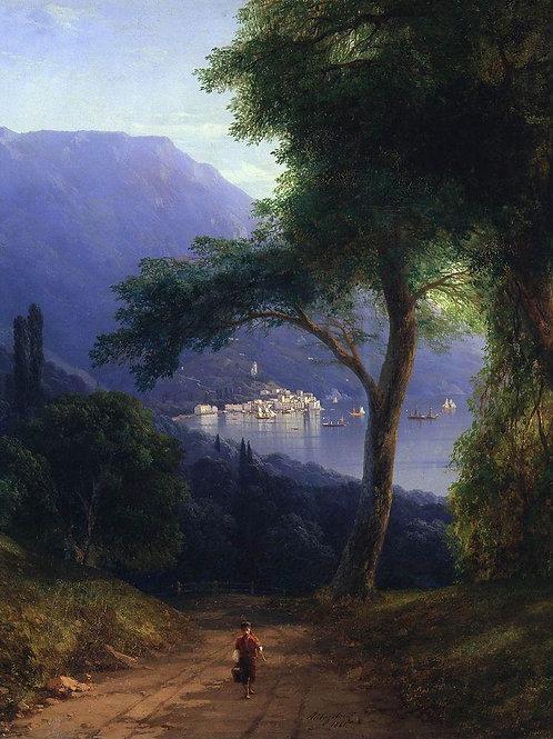 Вид из Ливадии. 1861, 30х40 см.
