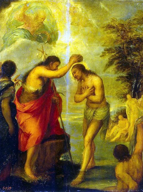 Карреньо, Крещение Христа, 30х40 см.