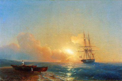 Рыбаки на берегу моря. 1852, 30х40 см.