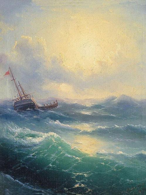 Море2. 1898, 30х40 см.