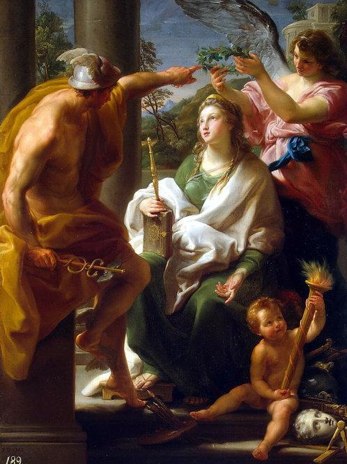 Батони, Меркурий, коронующий Философию, 30х40 см.