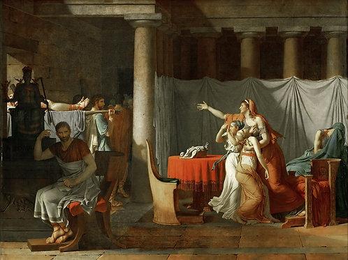Давид, Жак-Луи (1748 Париж - 1825 Брюсс ,30х40 см.
