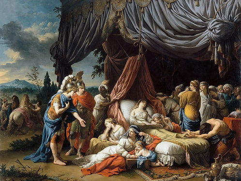 Лагрене,  Смерть жены Дария 30х40 см.