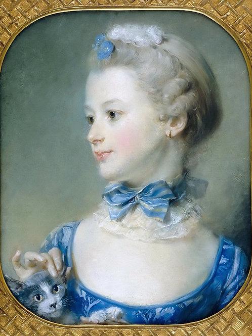 Перроно, Жан-Батист Портрет мадмуазель У 30х40 см.