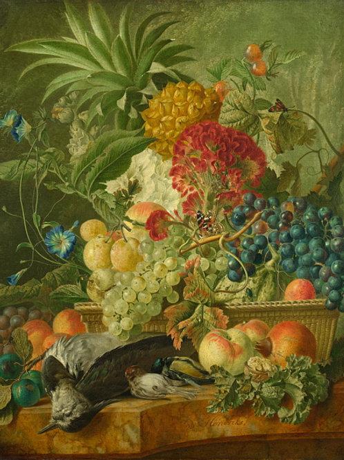 Вейбранд Хендрикс - Фрукты, цветы и бит, 30х40 см.