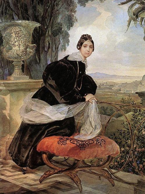 Портрет кн. Е.П.Салтыковой. 1833-1835.  30х40 см.
