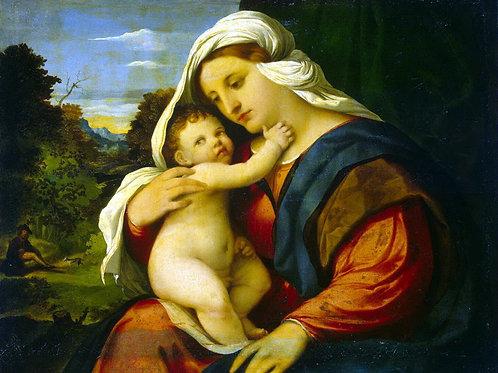 Пальма Старший, Якопо - Мадонна с младен,30х40 см.