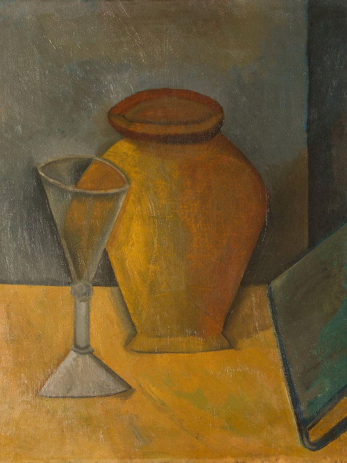 Пикассо, Пабло - Горшок, рюмка и книга,30х40 см.